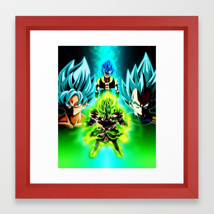 Dragon Ball Supero Movie Broly Framed Art Print By Dielissart Society6 Bola de dragón/esfera del dragón?) es un manga escrito e ilustrado por akira toriyama. society6