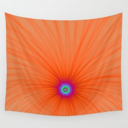 Tangerine Color Explosion Wall Tapestry