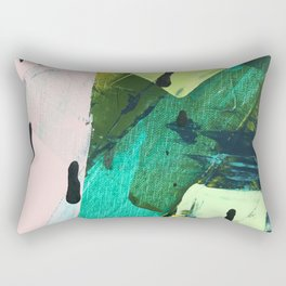 Hopeful[4] - a bright mixed media abstract piece Rectangular Pillow