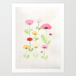 August Poppies Art Print