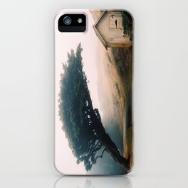 Leaning Cypress tree in Point Reyes National Seashore iPhone Case