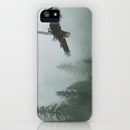 Battle for the Cedars - Bald Eagles Wildlife Scene iPhone Case