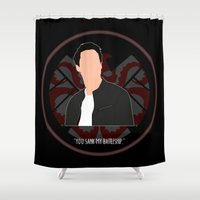 agents of shield Shower Curtains featuring Agents of S.H.I.E.L.D. - Ward by MacGuffin Designs
