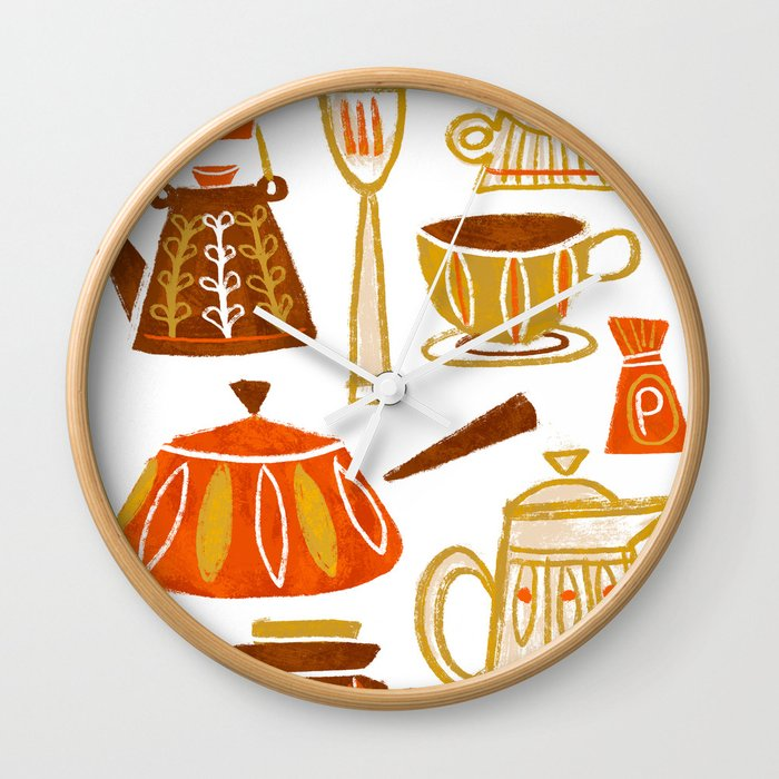. Mid Century Modern Kitchen Wall Clock by vanhuynh