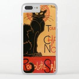 """Théophile Steinlen """"Tournée du Chat Noir"""" Clear iPhone Case"""