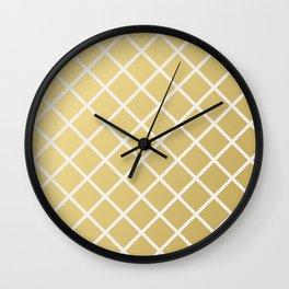 Pineapple Pattern Gold Wall Clock