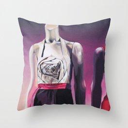 Pink Dress Throw Pillow