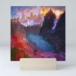 Patagonia sunset Mini Art Print