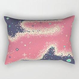 Pink Midnight Galaxy (8Bit) Rectangular Pillow