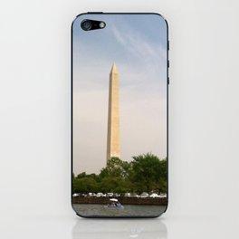 Paddling Up to the Washington Monument iPhone Skin
