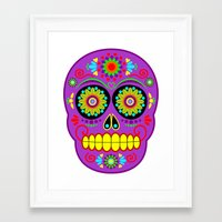 calavera Framed Art Prints featuring Calavera by Abearcub