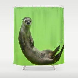 Green Otter Shower Curtain