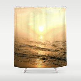 Gold Dawn Shower Curtain