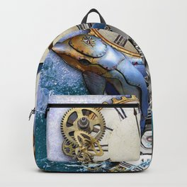 Steampunk Dolphin Time Backpack
