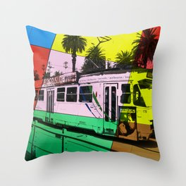 Melbourne Tram Throw Pillow