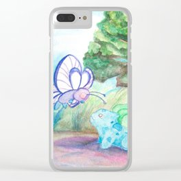 Butterfree And Bulba-saur Clear iPhone Case