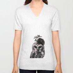 Portrait of Owl Unisex V-Neck