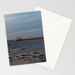 Bokeelia Pier at Sunset Stationery Cards