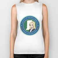 parks Biker Tanks featuring Parks & Rec. by BlackRose Designs