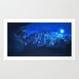 blue village Art Print