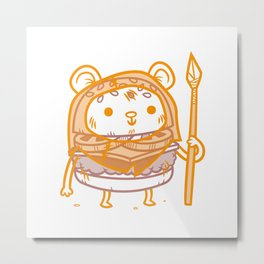 Cheeseburger Ewok Metal Print