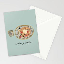 Wafles y Fruta Breakfast Stationery Cards