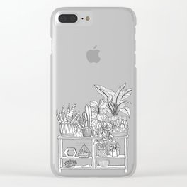 Houseplants Decor Clear iPhone Case