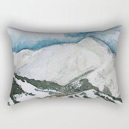 Snowmass Ski Area Watercolor Rectangular Pillow