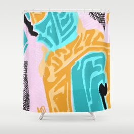 Yellow findings Shower Curtain