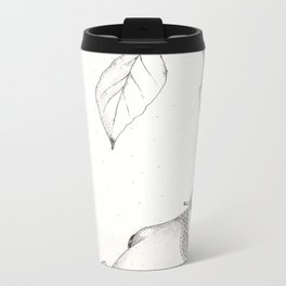 Fish and Avocado Metal Travel Mug