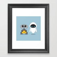 Wall-E and Eve Framed Art Print