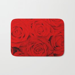 Some people grumble- Floral Red Rose Roses Flowers Bath Mat