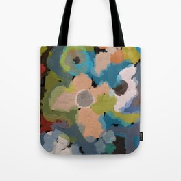 Abstact Flowers Tote Bag