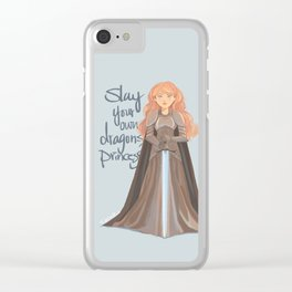 Slay your own dragons, Princess Clear iPhone Case