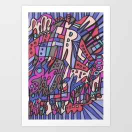 Feel This Real Forever Art Print