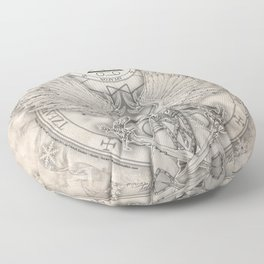 Archangel Raguel Floor Pillow