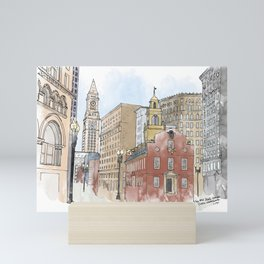 The Old State House Mini Art Print