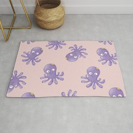 Octopus - Light Pink Rug