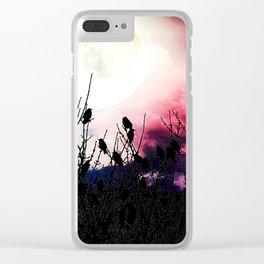Moon Birds Clear iPhone Case