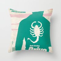 drive Throw Pillows featuring DRIVE by Alain Bossuyt