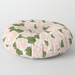 Pink Hydrangea Floor Pillow