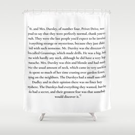 mr. and mrs. dursley Shower Curtain