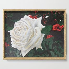 DON'T PAINT THE ROSES Serving Tray