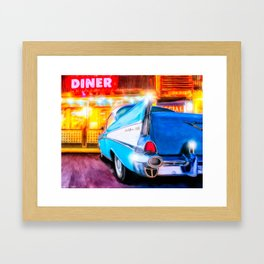 1957 Chevy Coupe - Classic American Diner Framed Art Print