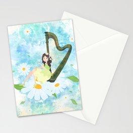 Harp girl 3: Daisy Stationery Cards