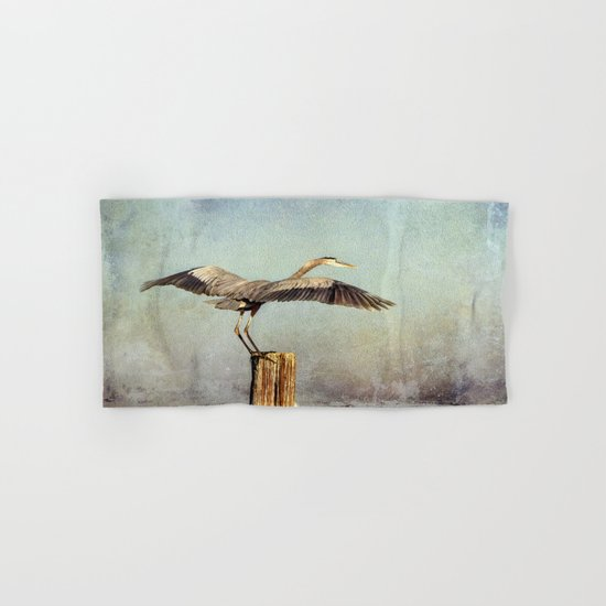 Blue Heron Landing Hand & Bath Towel