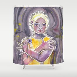 Eartha Kitt Shower Curtain