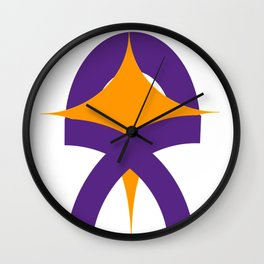Hopeful ribbon Wall Clock