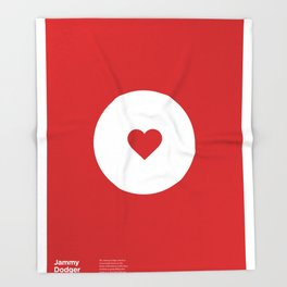 """Jammy Dodger"" Biscuit poster Throw Blanket"
