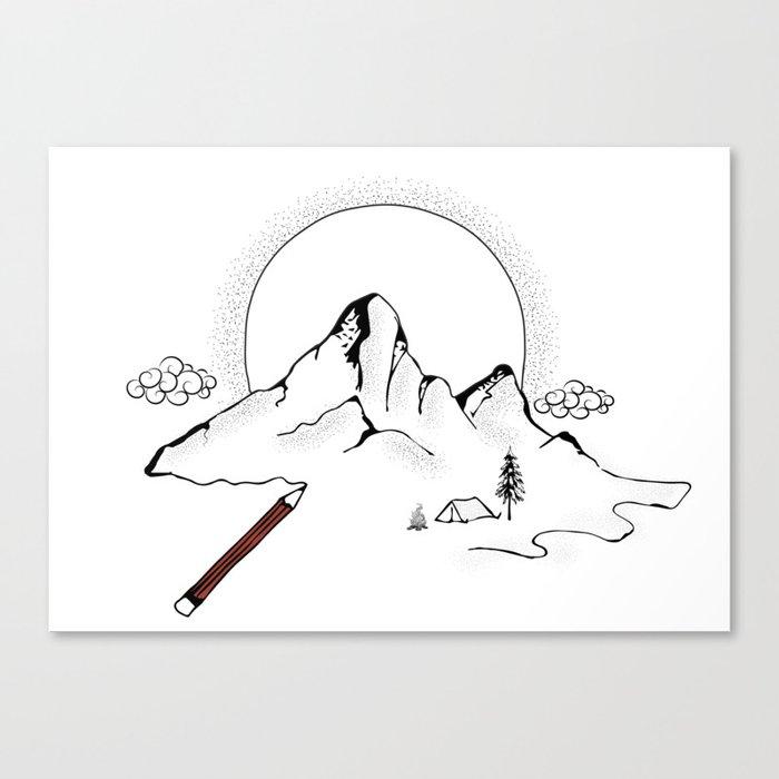 Mountain Camping Canvas Print